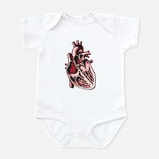Half Human Heart Infant Bodysuit