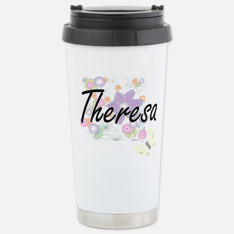 Theresa Artistic Name D Stainless Steel Travel Mug