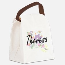 Theresa Artistic Name Design with Canvas Lunch Bag