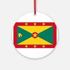 Grenada Flag Round Ornament