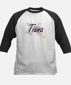 Tiana Artistic Name Design with Fl Baseball Jersey