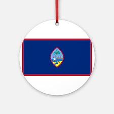 Guam Flag Round Ornament