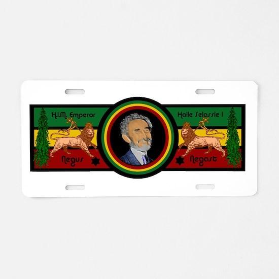 Smile Selassie Aluminum License Plate