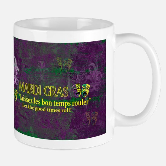 Mardi Gras Good Times Roll Mugs
