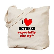 October 23rd Tote Bag