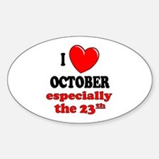 October 23rd Oval Decal