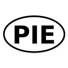 PIE automotive sticker