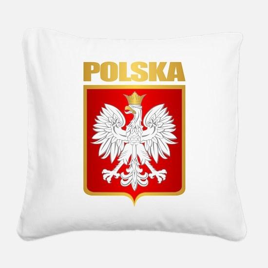 Poland COA Square Canvas Pillow