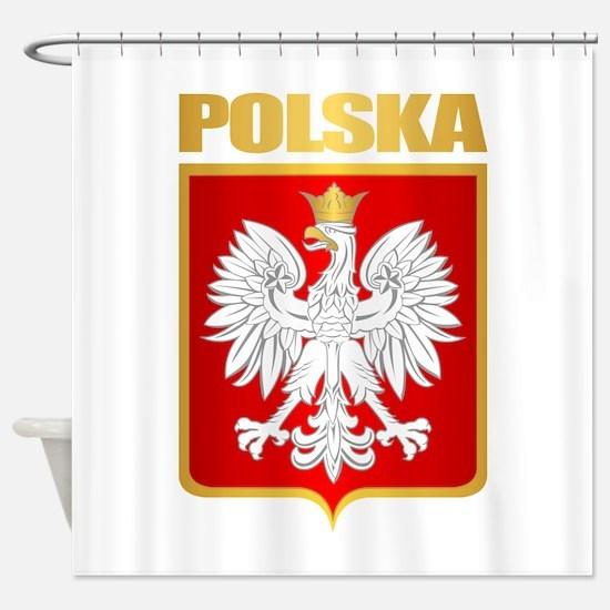 Poland COA Shower Curtain