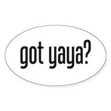 got yaya? Oval Decal