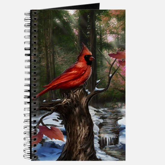 cardinal bird art Journal