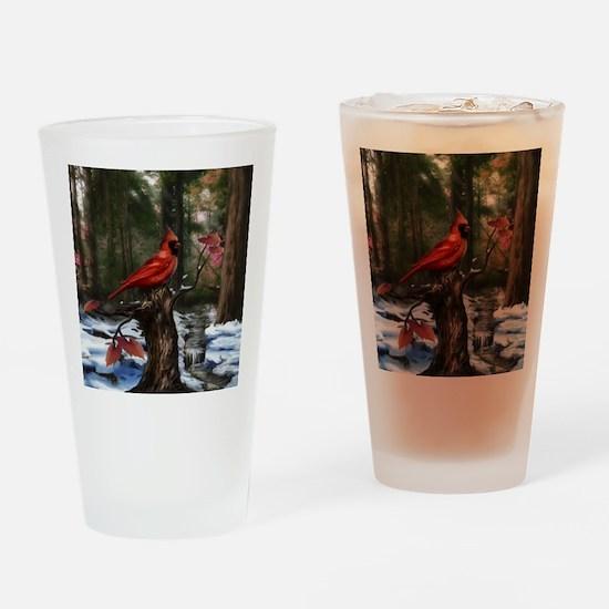 cardinal bird art Drinking Glass