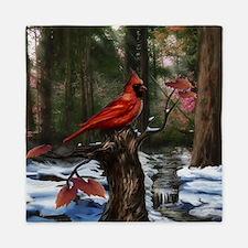 cardinal bird art Queen Duvet