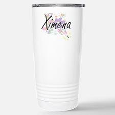 Ximena Artistic Name De Travel Mug