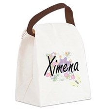 Ximena Artistic Name Design with Canvas Lunch Bag