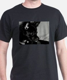 Chloe in black and white. T-Shirt