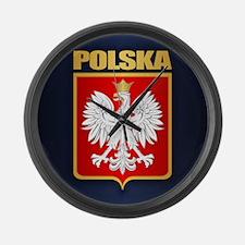 Poland COA Large Wall Clock
