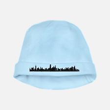 Chicago Skyline 1 baby hat