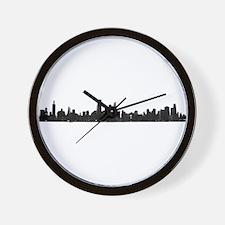 Chicago Skyline 1 Wall Clock