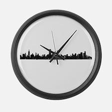 Chicago Skyline 1 Large Wall Clock