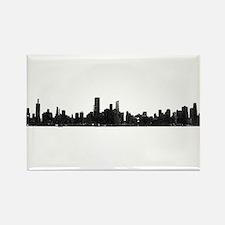 Chicago Skyline 1 Magnets