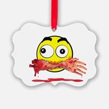 Bloody killer emoji Ornament