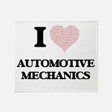 I love Automotive Mechanics (Heart m Throw Blanket