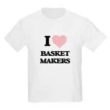 I love Basket Makers (Heart made from word T-Shirt
