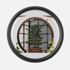 Cute Bonsai tree Large Wall Clock