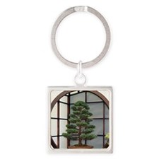Unique Bonsai Square Keychain