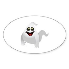 Ghoulish Ghost Oval Decal