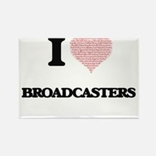 I love Broadcasters (Heart made from words Magnets