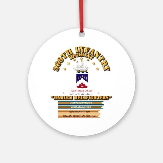 369th Infantry Regt Round Ornament