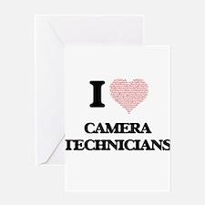 I love Camera Technicians (Heart ma Greeting Cards