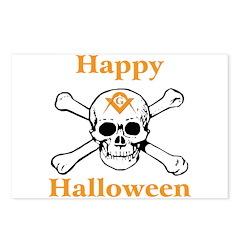 Masons Halloween Skull Postcards (Package of 8)