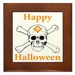 Masons Halloween Skull Framed Tile