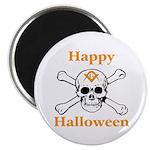 Masons Halloween Skull Magnet