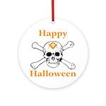 Masons Halloween Skull Ornament (Round)