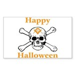 Masons Halloween Skull Rectangle Sticker