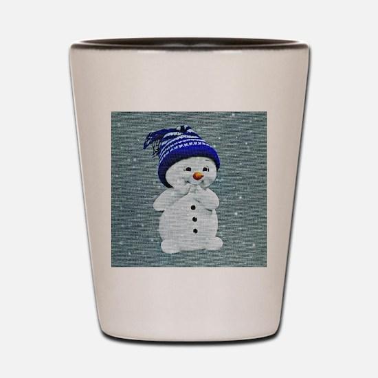 Cute Snowman Shot Glass