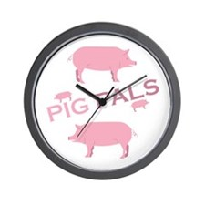 Pig Pals Wall Clock