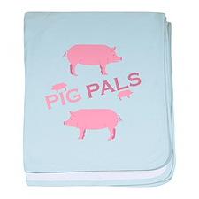 Pig Pals baby blanket