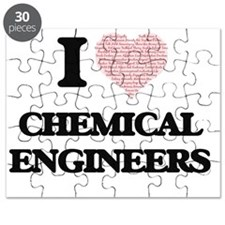 I love Chemical Engineers (Heart made from Puzzle