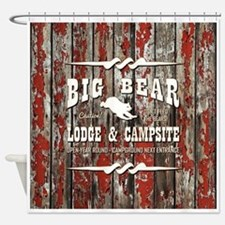 BIG BEAR LODGE Shower Curtain