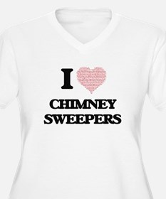 I love Chimney Sweepers (Heart m Plus Size T-Shirt