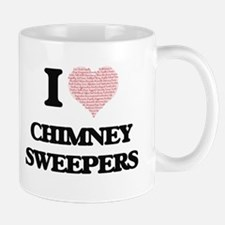 I love Chimney Sweepers (Heart made from word Mugs