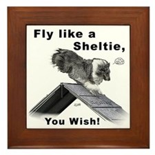 Shelties Fly- Agility Framed Tile