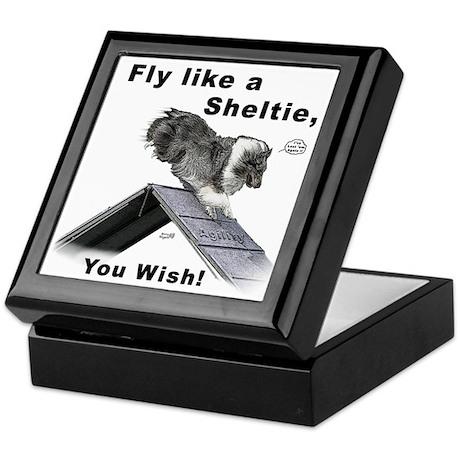 Shelties Fly- Agility Keepsake Box