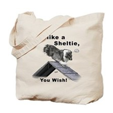 Shelties Fly- Agility Tote Bag