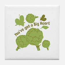 A Big Heart Tile Coaster